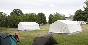 Berlin'de protesto kampı