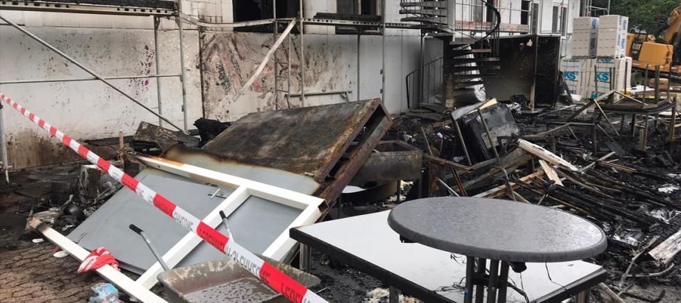 Almanya'da DİTİB camisinin şantiye bölümü yandı