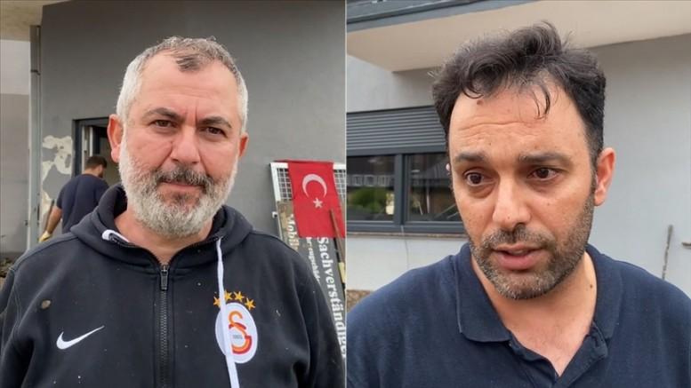 Almanya'da selden etkilenen Türkler yaşadıkların anlattı