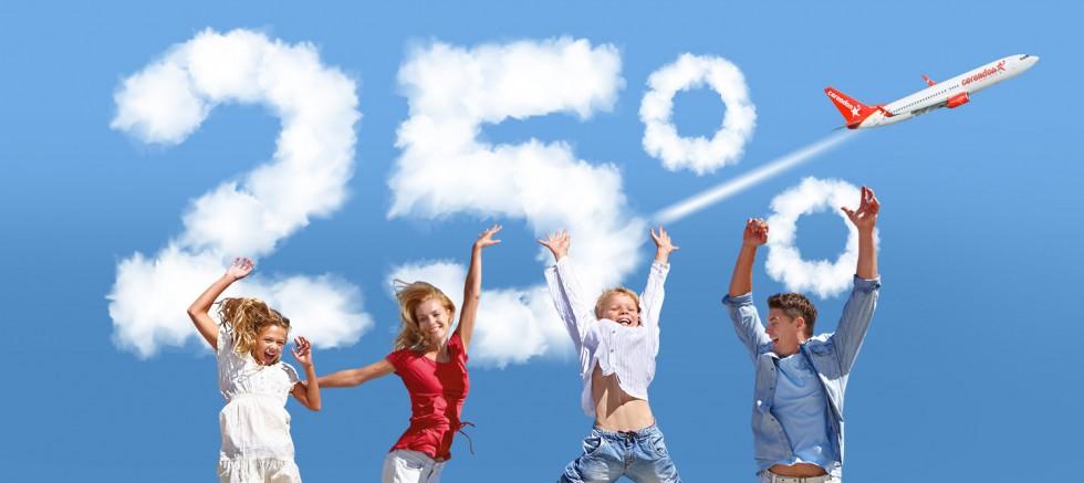 Corendon Airlines'tan çocuklu ailelere özel %25 indirim