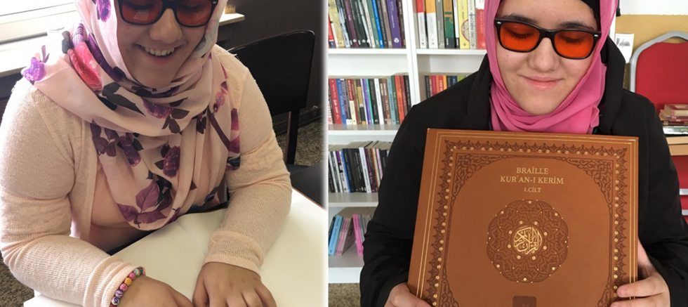 Görme engelli Ceren'in Kur'an-ı Kerim okuma azmi