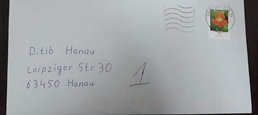 Irkçı terörün hedefi olan Hanau'daki camiye ırkçı mektup